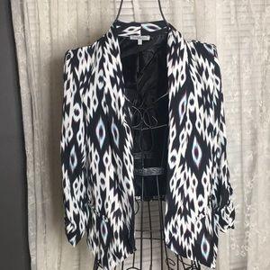 Aztec Print sheer blazer